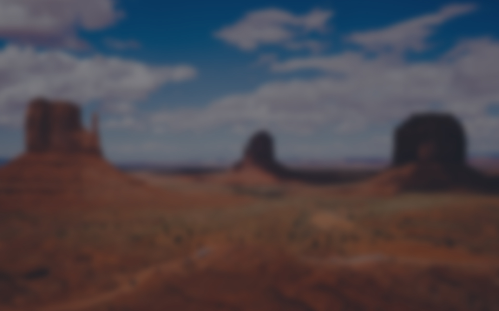 Blurry image of Utah's red mountains
