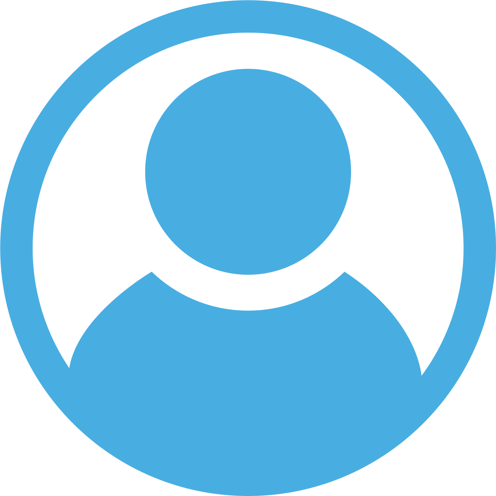 Person in a circle logo
